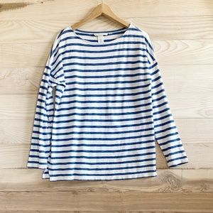 H&M L.O.G.G. COLLECTION BLUE/WHITE CASUAL LS TOP